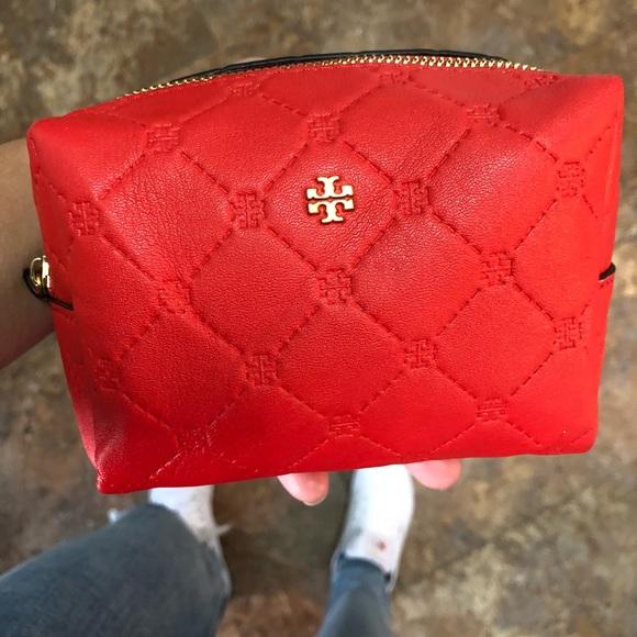 054c6d7286 Tory Burch Bags   Red Mini Makeup Bag   Poshmark